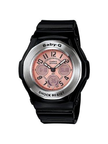 Casio Women's BGA107-1B Baby-G Shock Resistant Baby-G Shock Resistant Black Multi-Function Sport Watch