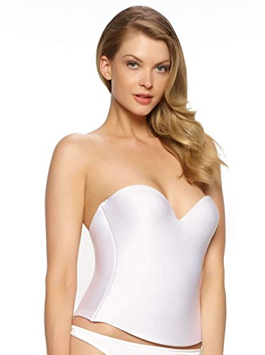 - Felina Women's Essentials Seamless Hidden Wire Bustier, White, 36B