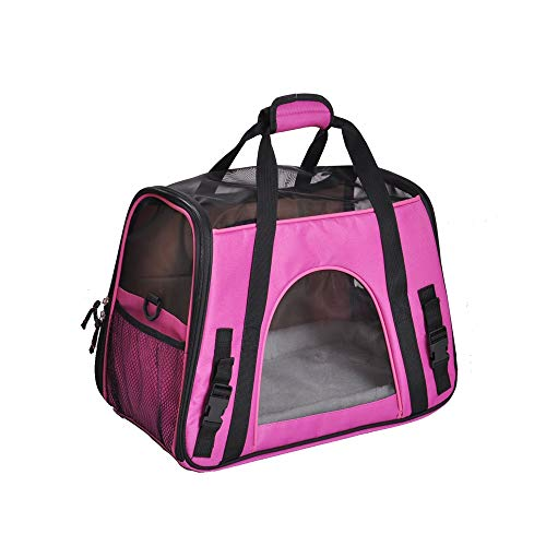 Soft Pet Carrier Medium Pet Carrier Tote Around Town Pet Carrier Portable Dog Handbag Dog Purse for Outdoor Travel Walking Hiking for Travel, Hiking, Outdoor Use (Color : Red) ()