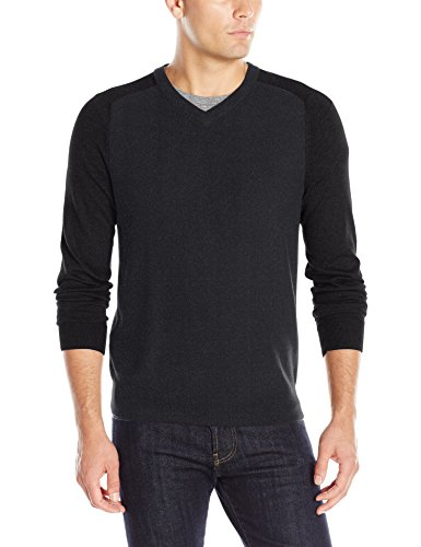 Perry Ellis Colorblock V Neck Sweater