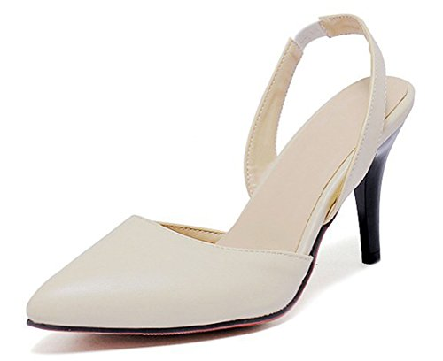 Pointu Dos Sangle Beige Le Femme Bout Aisun Mode Sur Escarpins wq7A0fx1
