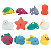 Battat-12-Pack Little Animal Squirts Fun Bath Toys for Babies 10m+ Compañeros de baño, Multicolor (Branford Ltd. BT2630Z)