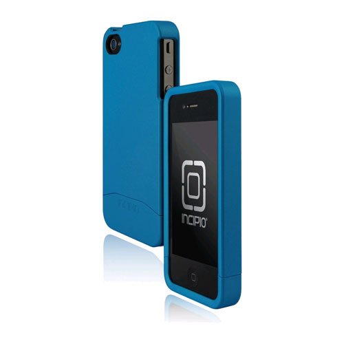 Incipio iPhone 4/4S EDGE Hard Shell Slider Case - 1 Pack - Carrying Case - Retail Packaging - Pearl Turquoise