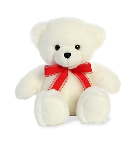 (Aurora World Off White Love Bear Plush Animal, Multicolor, 11.5