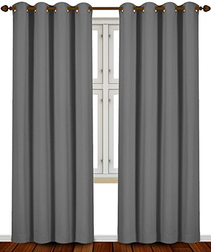 Blackout Panels Room Darkening Curtains Window Panel Drapes Grey Color 2 52 Ebay