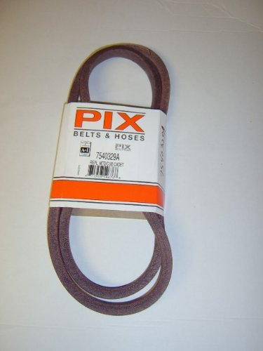 754-0329A, 954-0329A, 74-0433, 954-0433, Replacement belt made with Kevlar. For MTD, Cub Cadet, Troy Bilt, Brown