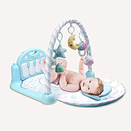 Amazon.com : AIBAB Baby Play Mat 3-12 Months Remote Control Music Lighting Multi-Purpose Special Pillow Fitness Rack Pedal Piano Newborn Game Blanket Baby ...