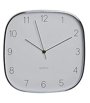 Originales Relojes de Pared en Aluminio. A Elegir (A) y (B), Diseño Chic/Moderno (28,5,5X28,5 CM).-Hogarymas- - B: Amazon.es: Hogar