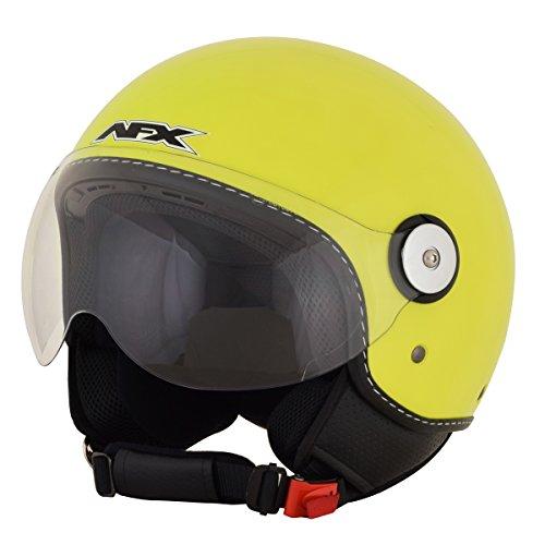 AFX 01060701 FX-33 Scooter Solid Helmet (Hi-Vis Yellow, (Afx Fx 20 Helmets)