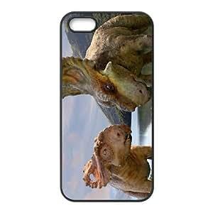 iphone5 5s phone case Black Dinosaur QWE0542440