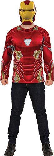 Rubie's Men's Marvel Avengers Infinity War Iron Man Costume Top and Mask, Standard ()