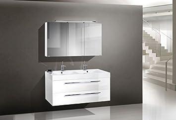 Intarbad Design Badmobel Set Mit Doppelwaschtisch 120 Cm Amazon De