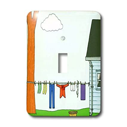 3dRose lsp/_17166/_1 Laundry Day Toggle Switch