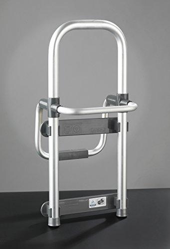 Wenko 81101500 Badewannen-Einstiegshilfe Secura verstellbar, 120 kg Tragkraft, 24,5 x 52,5 x 23 cm, aluminium