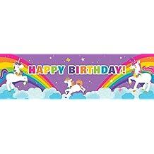 Fairytale Unicorn Party Supplies - Printed Birthday Banner