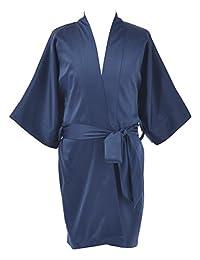 Remedios Satin Kimono Robe Kids Sleepwear Nightgowns Flower Girl Nightdress Short