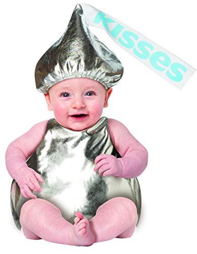 Adult Hershey Kiss Costume (Hershey Kiss Baby Costume Hershey's Chocolate Kisses Candy Child Size 6-12)