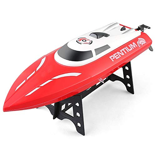 (ElevenY High Speed RC Boat S1 Pentium 2.4GHz 2CH 25KM/h High SpeedMini RC Racing Boat RTR RC Toys for Childern Best Gifts - Rechargeable Electric Speedboat for Kids Adults Hobby Toys)
