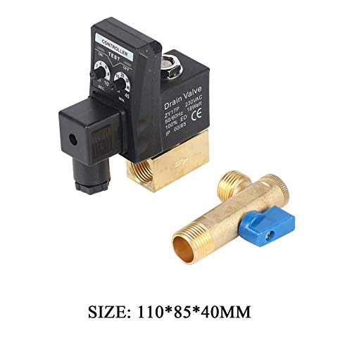 ouying1418 Electronic Timed Air Compressor Gas Tank Automatic 2-Way Drain Valve 1//2