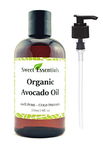 Pure Avocado (100% Pure Organic Cold-Pressed Avocado Oil - 8oz - FREE Pump included - Imported From Italy - NON-GMO/ Golden In Color)