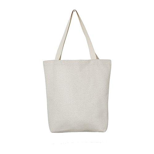 """Aimto Heavy Duty Canvas Tote Bag Washable 15""""W x 16""""H x 4""""D"""