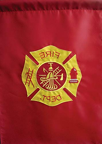 (Mikash 12x18 Embroidered Fire Dept. Department Sewn Nylon Sleeved Garden Flag 12x18   Model FLG - 2077)