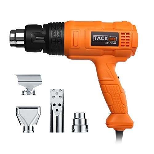 Professional Heat Gun 1500W 122℉~1022℉(50℃~550℃) - Adjustable 3 Temp/Flow-settings, Unique Cooling Mode, 4 Nozzle Attachments(Working Time Over 500 Hrs) - HGP70AC ()
