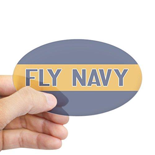 CafePress U.S. Navy: Fly Navy (Blue & Gold) Oval Bumper Sticker, Euro Oval Car Decal