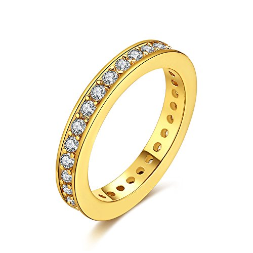 Women Charms Jewelry Gold Plated Romantic Square Zircon Stat