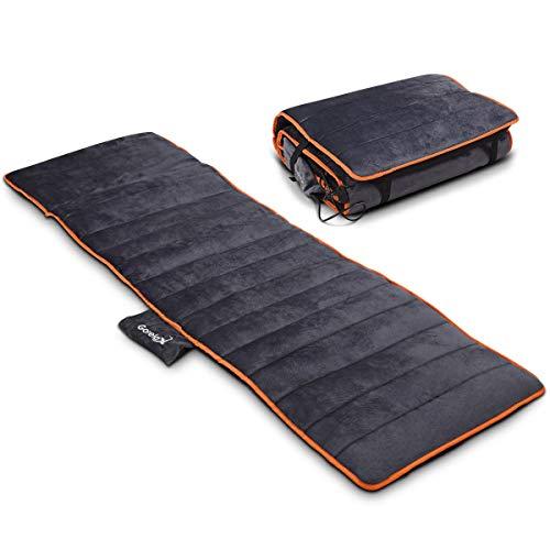 10 Motor Full Body Mat - LHONE Foldable Full Body Massage Shiatsu, 10-Motor Massage Mat with Heat and 4 Therapy Heating Pad