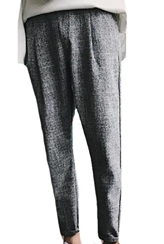 Abetteric Mens Solid Color Western Work To Weekend Tapered Harem Pant Grey XL (Chino Cropped Pants Weekend)