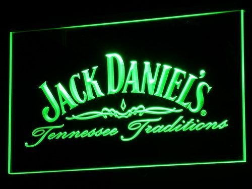 a047 Jack Daniel's Whiskey Wine LED Neon Sign (Green)