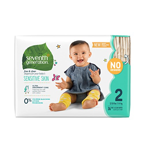 Seventh Generation Baby Diaper Value Pack, Stage 2, 36 co...
