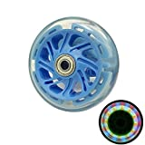 AOWISH 100 mm Scooter Wheels Pair - Light Up Replacement Wheels with ABEC-7 Bearings for Razor Scooters Color Blue