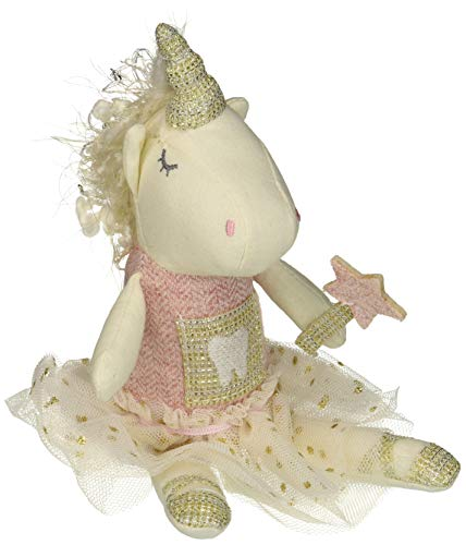 (Mud Pie Women's Unicorn Tooth Fairy Pink One Size)