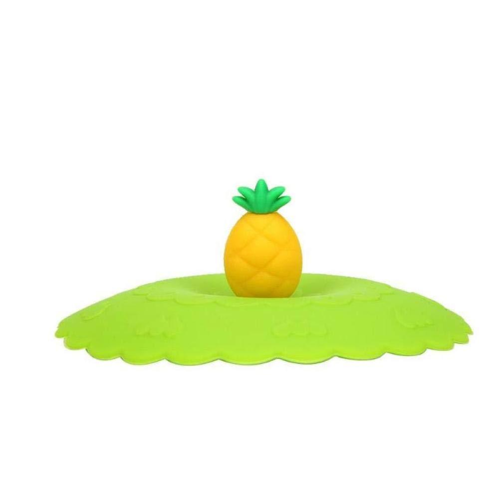 Zonster 1pcs Couvercle en Silicone Coupe r/éutilisable /étanche /à la poussi/ère Bowl Cup Cover /épreuve des fuites Coupe Couvercles Fruits Mignon Animal Mugs Cap Gadgets
