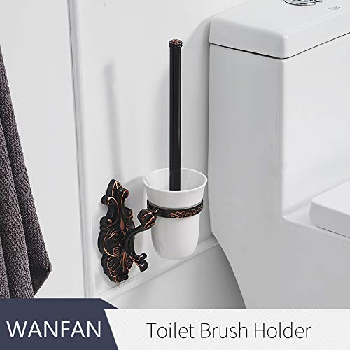 (Yungretank Toilet Brush Holders Solid Brass Wall Mounted Toilet Brushes Holder Set Ceramic Luxury Bathroom Accessories Toilet Cleanwf-88809 Toilet Brush Holder1)