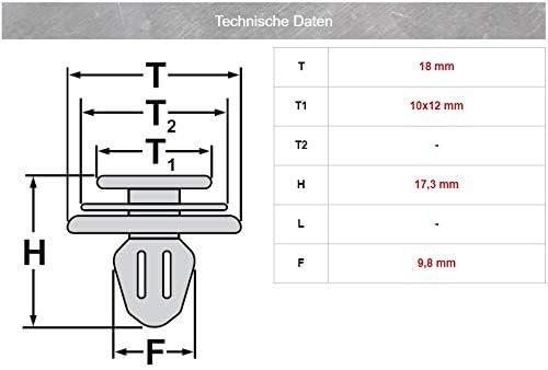 5x Radlauf Zierleiste T/ür Verkleidung Befestigungs Clips 71748293