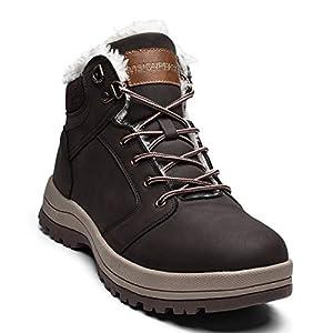 visionreast Bottine Femmes Chaussures d'hiver Mixte Adulte Doublure Chaude Botte de Neige Fourrée imperméables Botte d'hiver Hiver Antidérapage Boots Homme