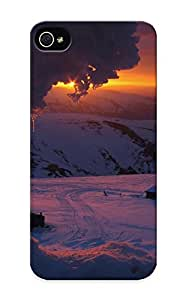 Honeyhoney Top Quality Case Cover For Iphone 5/5s Case With Nice Sunset Mountains Landscapes Nature Winter Snow Houses Appearance