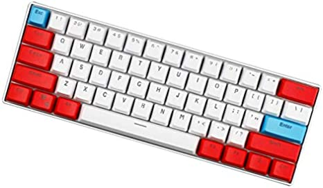 SSSLG 60/% Keycaps ,2 Doubleshot Pbt Keycaps Suitable for Cherry MX Switches OEM Height PBT Material Blue and Yellow