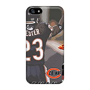 Shock Absorption Hard Phone Case For Apple Iphone 5/5s With Unique Design Stylish Chicago Bears Image DannyLCHEUNG