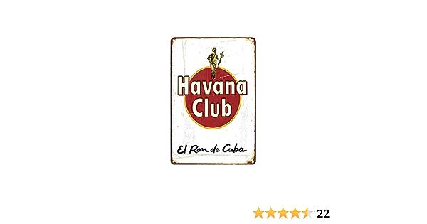 scsafsvvcv - Letreros metálicos personalizados vintage 8 x 12 - Havana Club El Ron de Cuba Chic Art Wall Decort Home Yard Signs Bar Hotel Cafe Pub ...