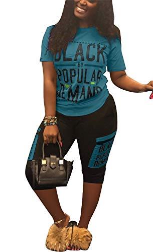 (Womens Sexy 2 Piece Sports Outfit Set Shirt Bodycon Pants Joggers Clubwear Tracksuit Sportswear Set)