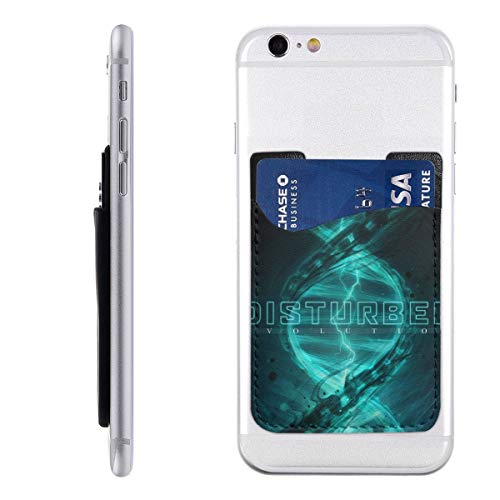 Disturbed Tour 2019 Phone Holder Backpack Wallet,PU 3M Adhesive Stick-on ID Credit Card Wallet Phone Case Pouch Sleeve Pocket Compatible Pocket Pocket Sleeve