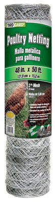 Midwest Air Tech/Import 308476B Galvanized Poultry Net, 2-in. Mesh, 48-in. x 50-Ft. - Quantity 24