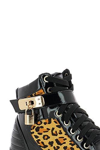 Baskets montantes cadenas détail à Imprimé 0ARRxwOqT