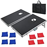 corn bag toss game - F2C Portable Foldable Aluminum Framed Bean Bag CornHole Toss Game Set Boards 3FT2FT/4FT2FT with 8 Bean Bags and Carrying Case