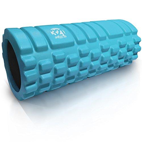 321 STRONG 758576546933ALIFFBA Foam Roller, Medium Density Deep Tissue Massager for Muscle Massage and Myofascial Trigger Poi