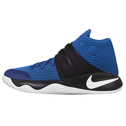 NIKE Grade School Boy's Kyrie 2 Basketball Shoes Hyper Cobalt/Metallic Silver/Black